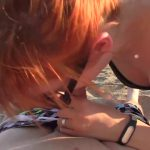 Redhead teen Anny fucked and overcumed outdoor