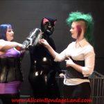 Femdom Aliceinbondageland – Rubber Kitty Punch Fucking – Duck Tape Bondage Femdom Threesome